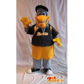Eagle maskot holder amerikanske basketballspiller, basketball oss skjule - MASFR001873 - Mascot fugler