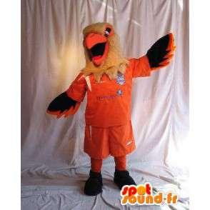 Orel maskot drží fotbalový kostým fotbalový příznivec - MASFR001874 - maskot ptáci