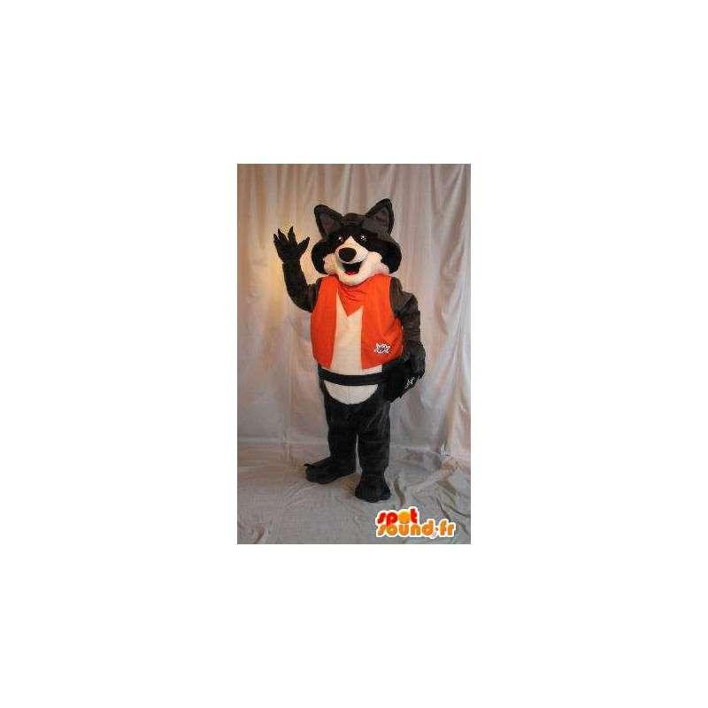 Fox mascot orange jumpsuit, costume fox - MASFR001876 - Mascots Fox