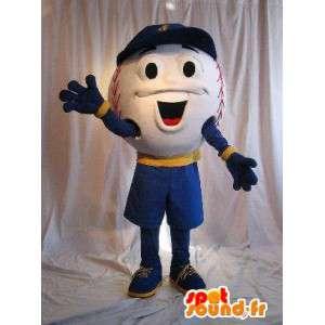 Mascotte de personnage balle de baseball, déguisement de balle