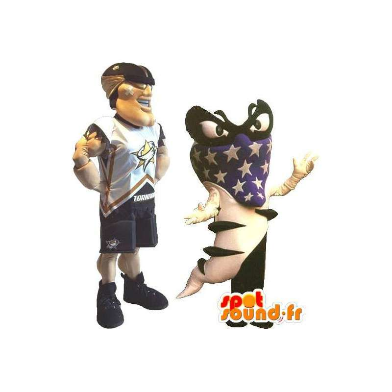 Football americano del costume della mascotte degli Stati Uniti lo sport - MASFR001880 - Mascotte sport