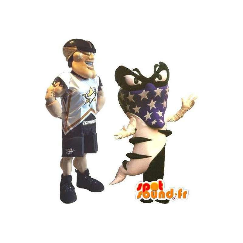 Mascota de fútbol americano, deporte disfraz EE.UU. - MASFR001880 - Mascota de deportes
