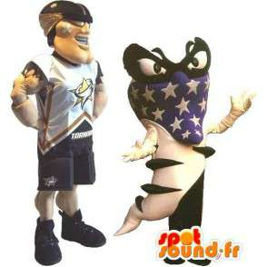 Mascotte de footballeur américain, déguisement sport US - MASFR001880 - Mascotte sportives