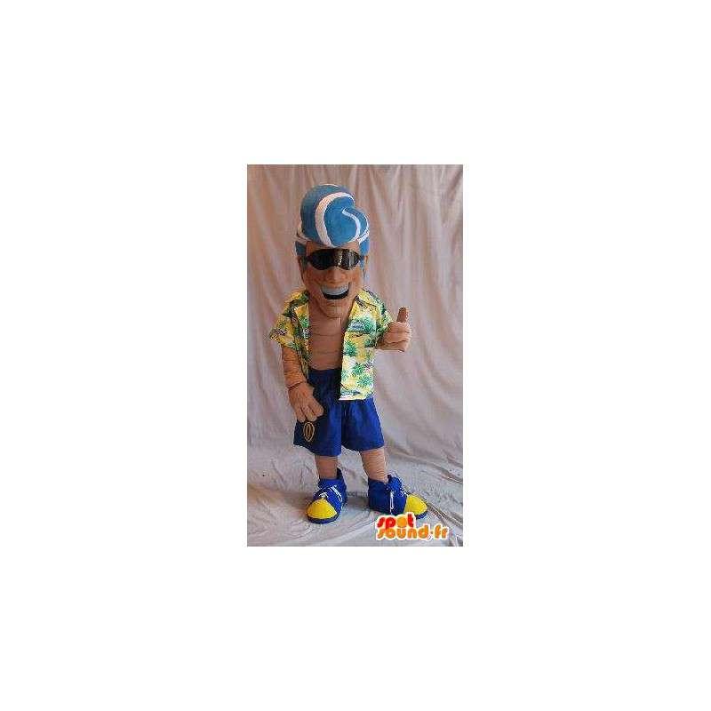 Mascot playboy in touristischen Modus gut aussehend Verkleidung - MASFR001881 - Menschliche Maskottchen