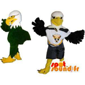 Voetballer mascotte adelaar kostuum US Sports