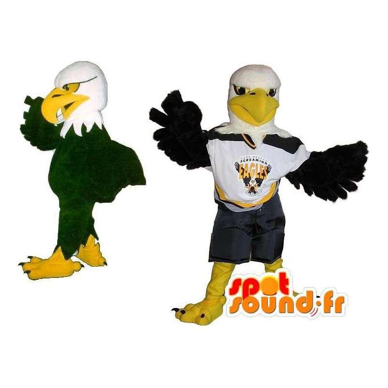 Mascotte aigle footballeur américain, déguisement sport US - MASFR001883 - Mascotte d'oiseaux