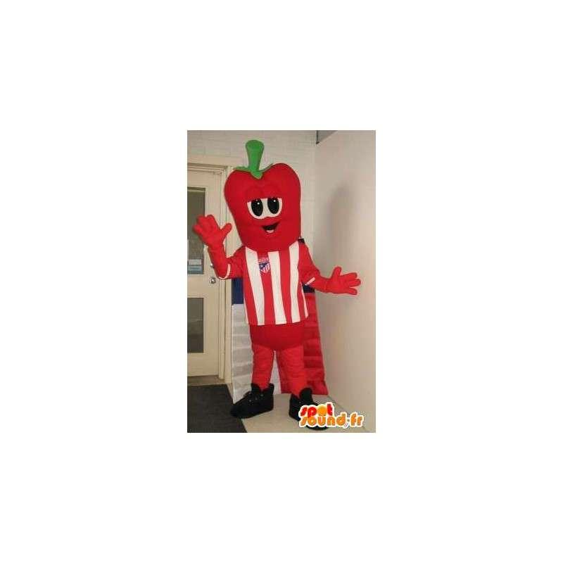 Fresa cabeza de la mascota del traje del personaje futbolista - MASFR001885 - Mascota de la fruta