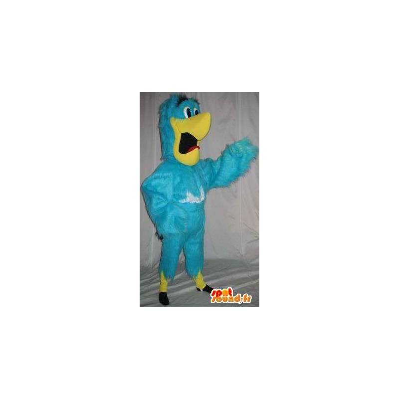 Mascotte perroquet bleu et jaune, déguisement d'oiseau - MASFR001889 - Mascotte d'oiseaux