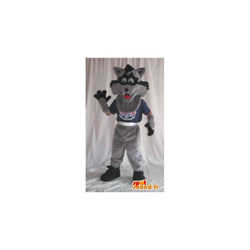 Maskotka wilk szary i czarny kostium dla dzieci - MASFR001892 - wilk Maskotki
