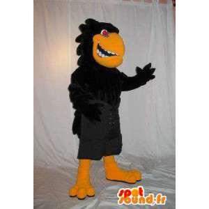 Mascotte de corbeau agressif et méchant pour fêtes d'Halloween