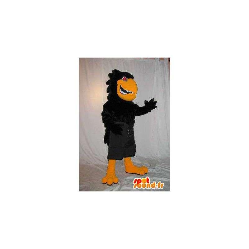 Mascotte de corbeau agressif et méchant pour fêtes d'Halloween - MASFR001894 - Mascotte d'oiseaux