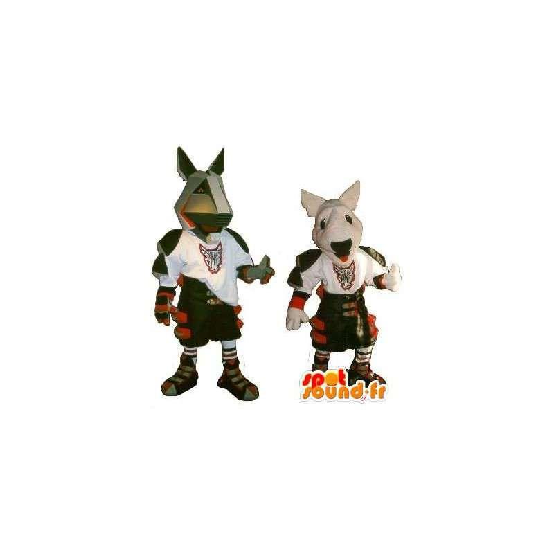 Pit Bull Mascottes armor kostuum modern gladiator - MASFR001895 - Dog Mascottes