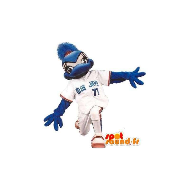 Duck mascot dressed in baseball, baseball costume - MASFR001899 - Ducks mascot
