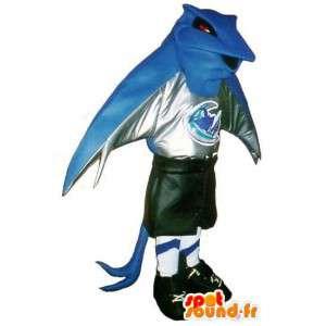Mascot Pokemon jalkapalloilija jalkapalloseura valepuvussa