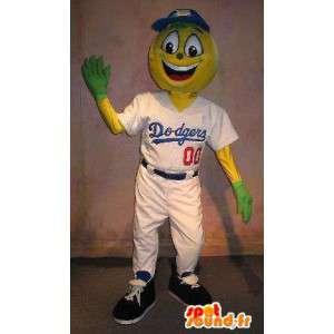 Jogador Mascot Dodgers disfarce de beisebol