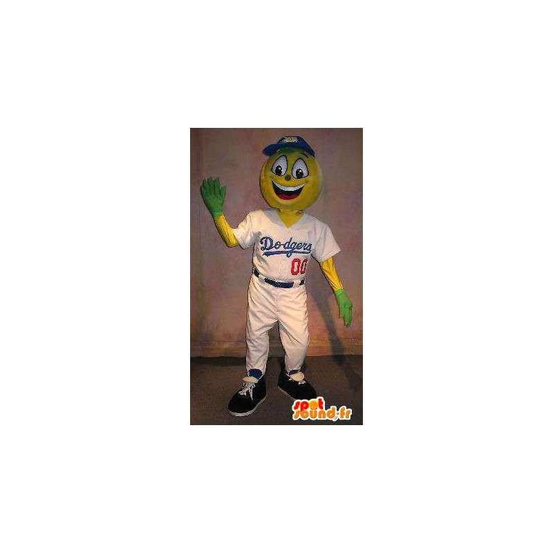 Jogador Mascot Dodgers disfarce de beisebol - MASFR001908 - mascote esportes