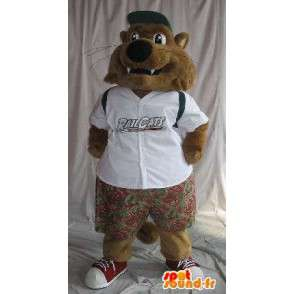 Little wolf mascot dressed schoolboy outfit for children - MASFR001913 - Mascots Wolf