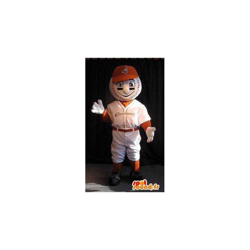 Maskot hlava koule hráč, baseball převlek - MASFR001914 - sportovní maskot