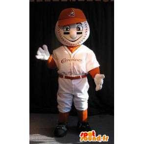 Mascotte joueur à tête de balle, déguisement balle de baseball - MASFR001914 - Mascotte sportives