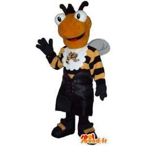 Bee mascot dressed in sport, sports bee costume