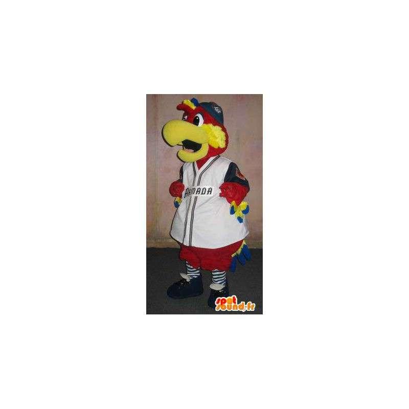 Parrot mascot bear baseball, bear costume - MASFR001924 - Sports mascot