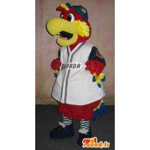 Mascotte de perroquet supporter baseball, déguisement supporter - MASFR001924 - Mascotte sportives