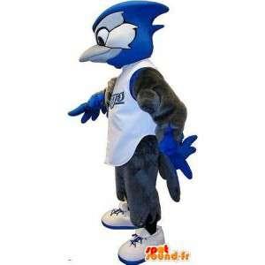 Mascot cóndor en ropa deportiva, traje de aves