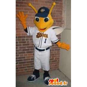 Mascotte de libellule joueur de baseball, déguisement insecte - MASFR001927 - Mascottes Insecte