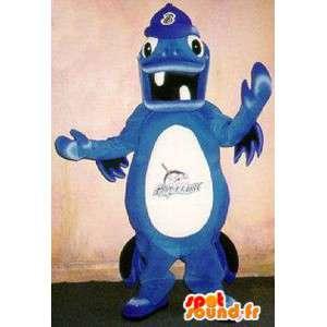 Mascot relógios marinhos, traje animal de estimação mar