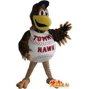 Baseball kycklingmaskot, amerikansk idrottsförklädnad -