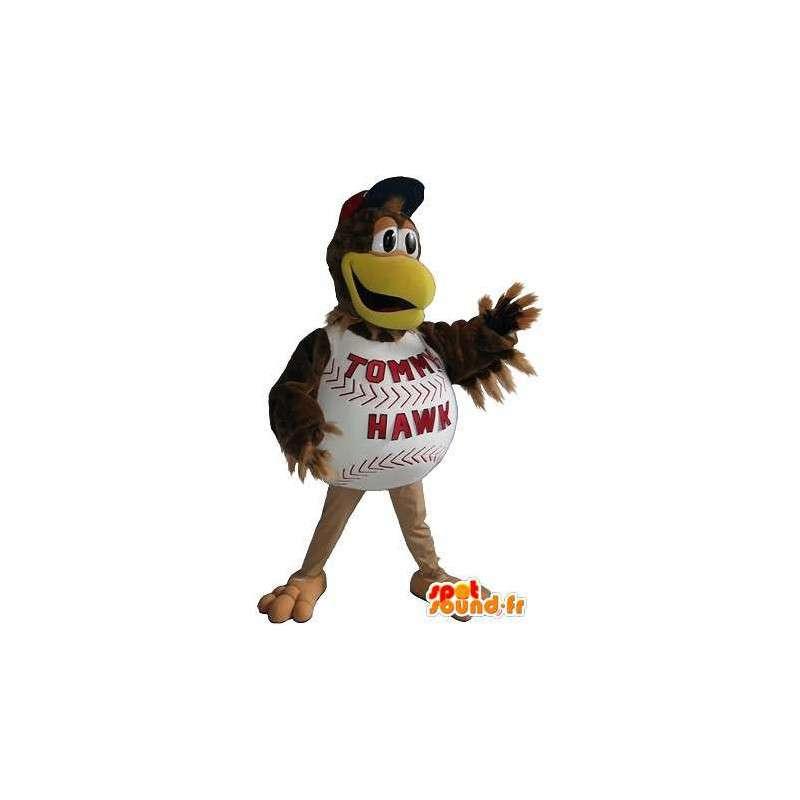 Mascotte de poulet balle de baseball, déguisement sport américain - MASFR001932 - Mascotte sportives
