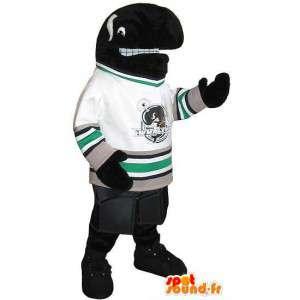 Mascotte d'orque footballeur américain, déguisement sport USA