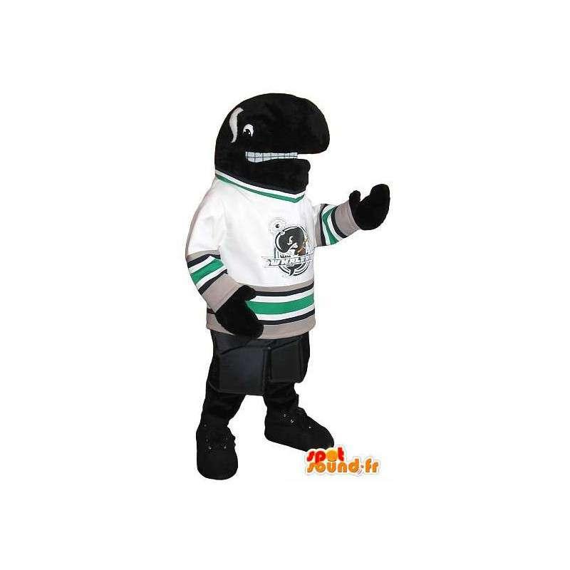 Orca mascotte voetballer, sporten USA vermomming - MASFR001933 - sporten mascotte