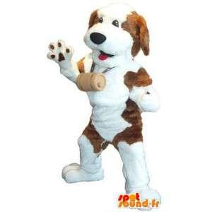 Mascot San Bernardo traje del perro de montaña
