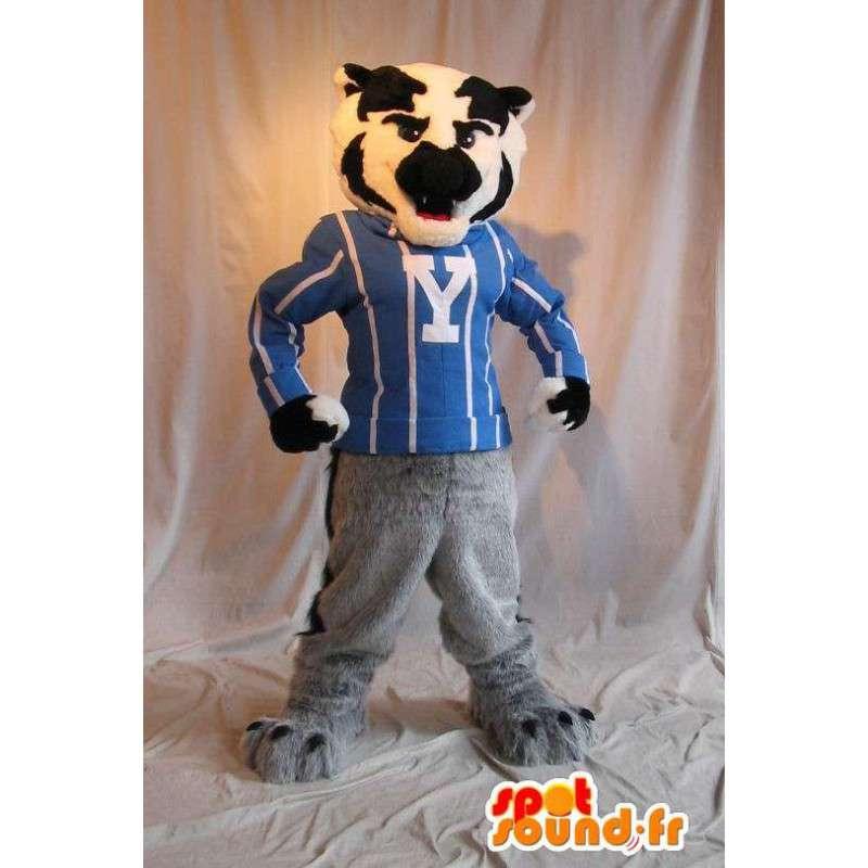 Maskotti urheilullinen koira, urheilu puku - MASFR001937 - koira Maskotteja
