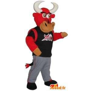 Sportowe maskotka byk, sportowiec przebranie