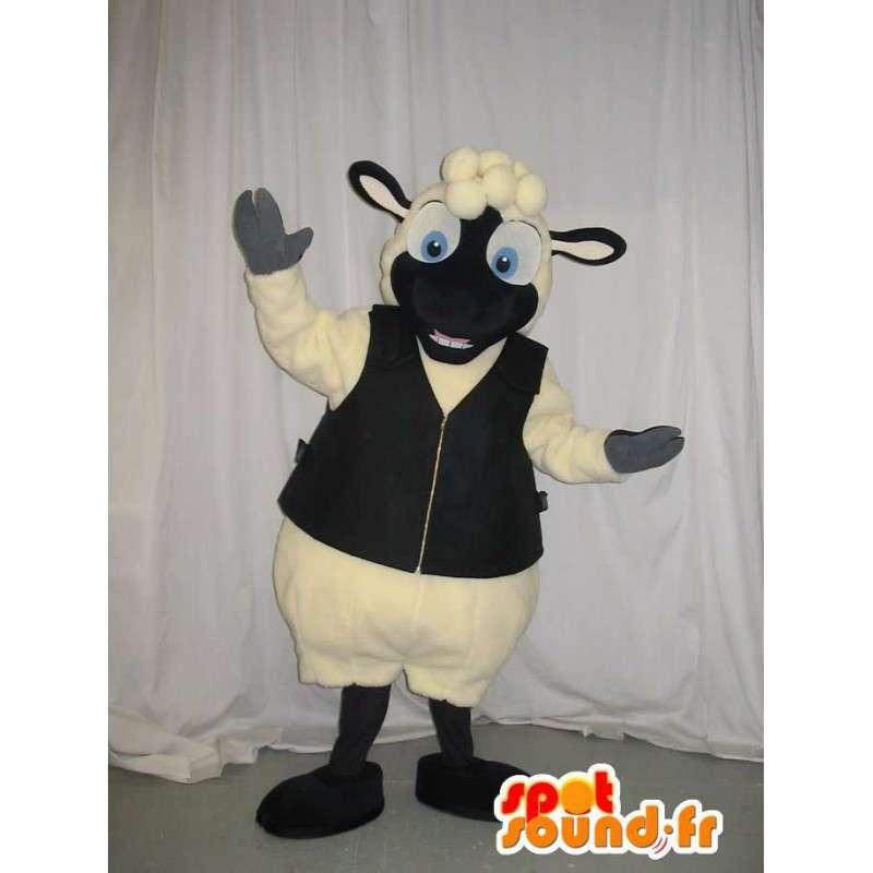 Mascotte de mouton en gilet, déguisement de mouton - MASFR001939 - Mascottes Mouton