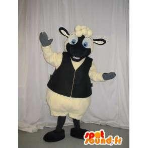 Chaleco de piel de oveja de la mascota del traje de las ovejas - MASFR001939 - Ovejas de mascotas