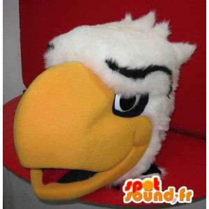 Mascot que representa una cabeza de águila gigante, disfrazado de águila