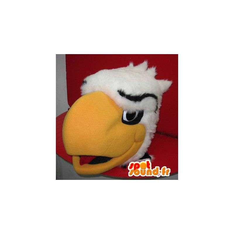 Mascot que representa una cabeza de águila gigante, disfrazado de águila - MASFR001941 - Mascota de aves
