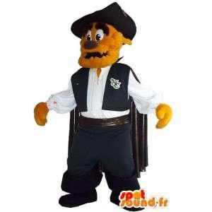 Mascot representando una capa perro, vigilante de vestuario