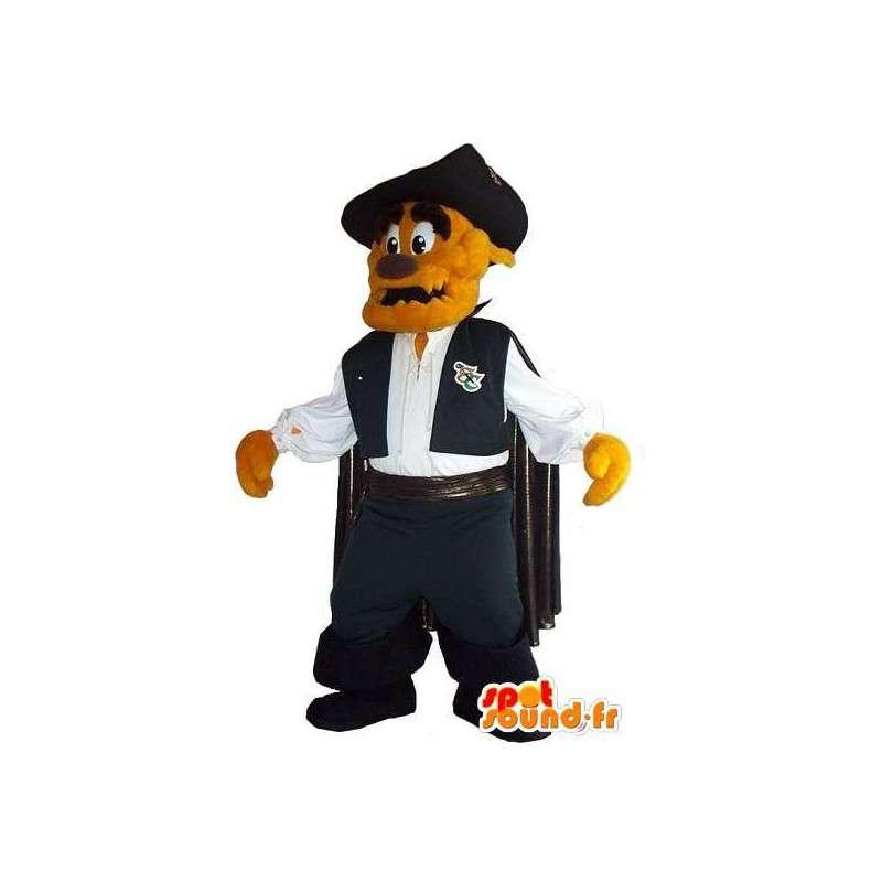 Mascot van een hond cape, vigilante kostuum - MASFR001943 - Dog Mascottes