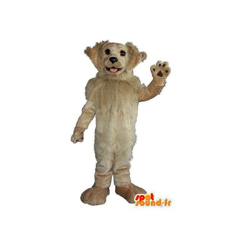 Koira maskotti beige hiukset, koiran puku - MASFR001944 - koira Maskotteja