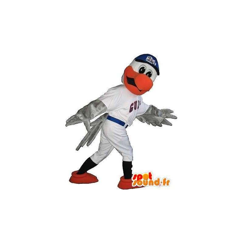 Eagle mascotte in honkbal outfit kostuum Amerikaanse sport - MASFR001947 - Mascot vogels