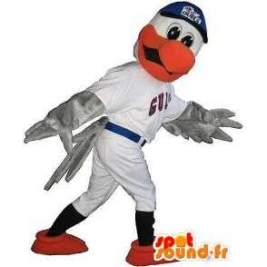 Mascotte aigle en tenue de baseball, déguisement sport américain - MASFR001947 - Mascotte d'oiseaux