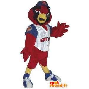 Mascote águia do futebol americano, traje de futebol americano