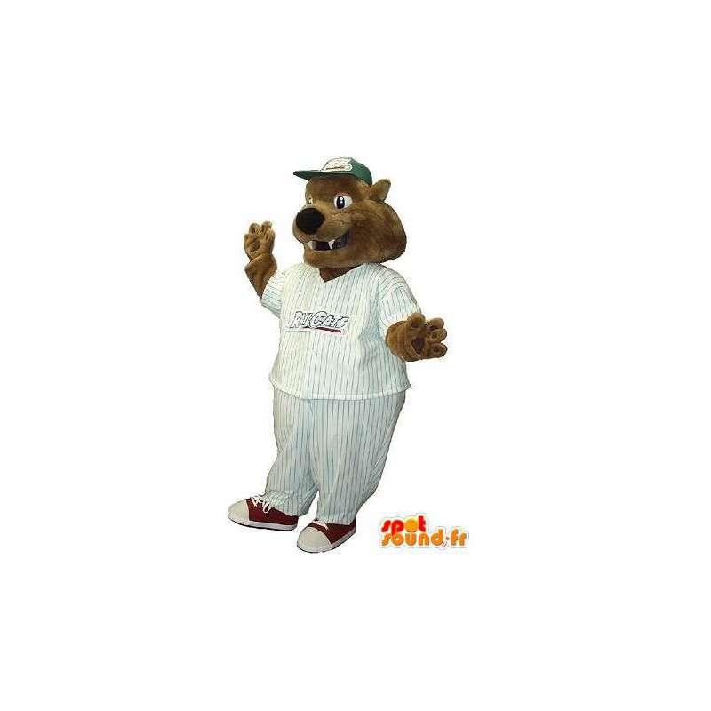Baseball karhukoirista maskotti puku USA Urheilu - MASFR001950 - koira Maskotteja