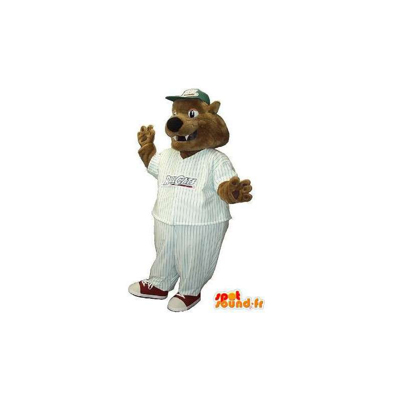 Dog mascot bear baseball costume U.S. sport - MASFR001950 - Dog mascots