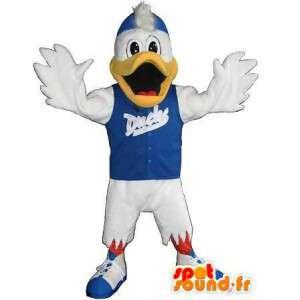 Mascotte de canard sportif, déguisement fitness