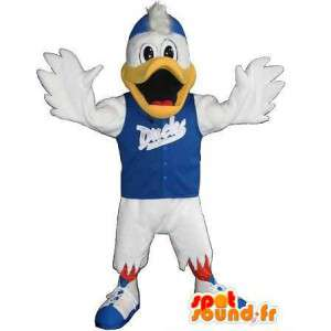 Sports mascote pato, disfarçado de fitness - MASFR001951 - patos mascote